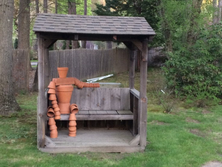 Also, we should all have a flowerpot person on our front lawn...