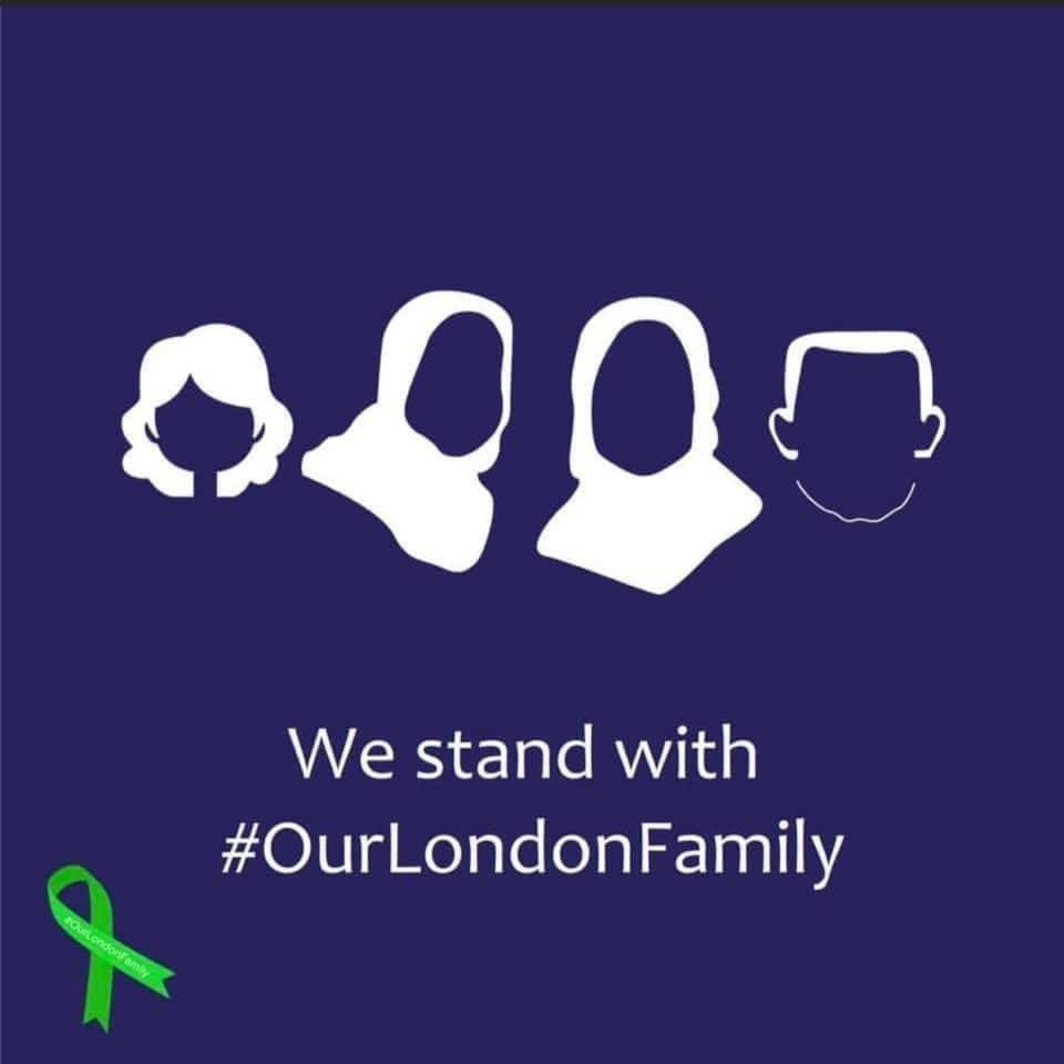 Image of #OurLondonFamily graphic circulated in the wake of the terrorist attacks in London, Ontario.